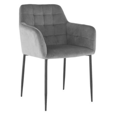 Dizajn fotel, szürkebarna TAUPE Velvet anyag, GREDAN