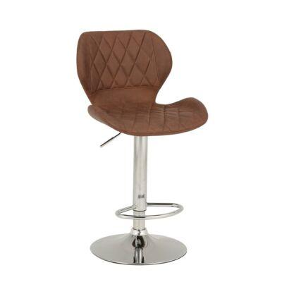 Bár szék, barna/króm, SOFALA