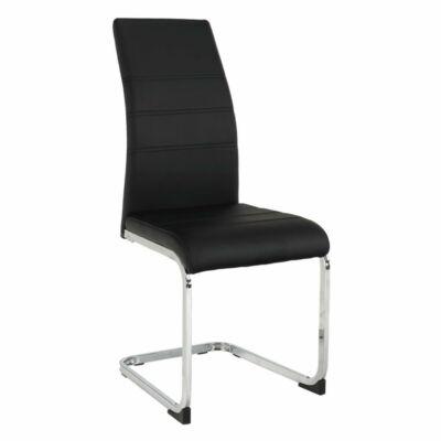 Étkező szék, fekete/króm, VATENA