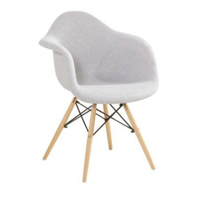 Fotel,anyag szürke/bükk, DAREL 2 NEW