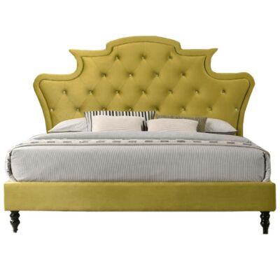 Luxuságy, arany Velvet anyag, 180x200, REINA