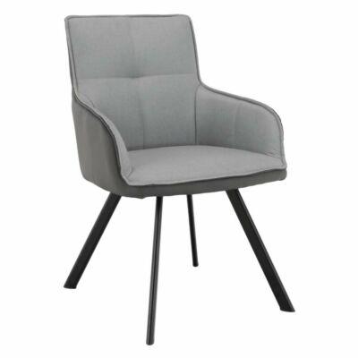 Fotel, szürke/sötétszürke/fekete, TASMAN