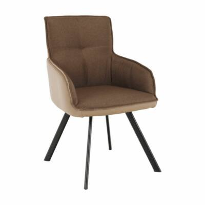 Fotel, barna/világosbarna/fekete, TASMAN