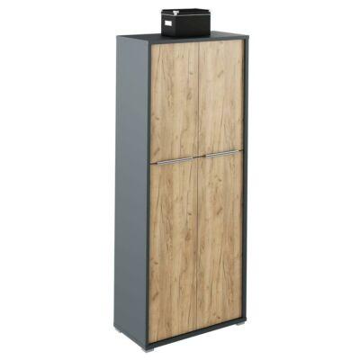 Polc szekrény, grafit/tölgyfa artisan, RIOMA NEW TYP 07