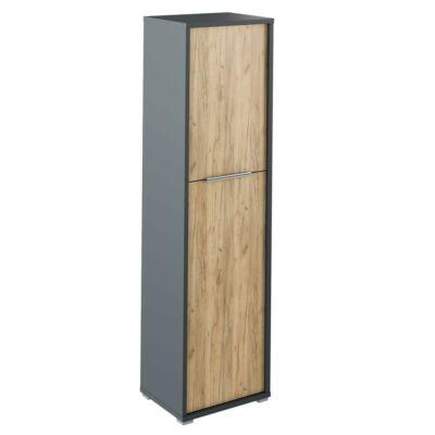Polc szekrény, grafit/tölgyfa artisan, RIOMA NEW TYP 08