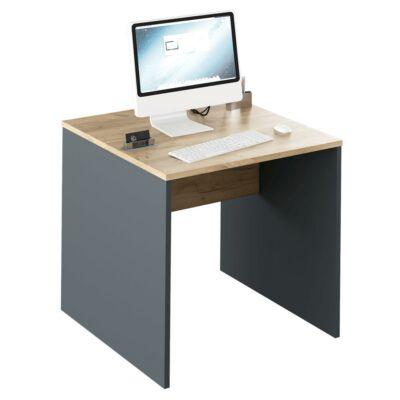 Íróasztal, grafit/tölgyfa artisan, RIOMA TYP 17