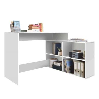 Univerzális számítógépasztal, fehér, KORNER NEW