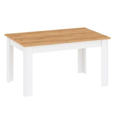 Étkezőasztal, fehér alba/tölgy craft arany, LANZETTE S