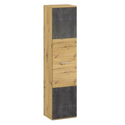 Polcos szekrény V, artisan tölgy/szürke beton, ERIDAN