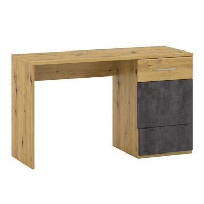 Számítógépasztal P2, artisan tölgy/szürke beton, ERIDAN