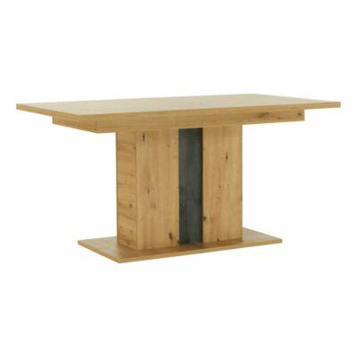 Étkezőasztal kinyitható, artisan tölgy/szürke beton, ERIDAN
