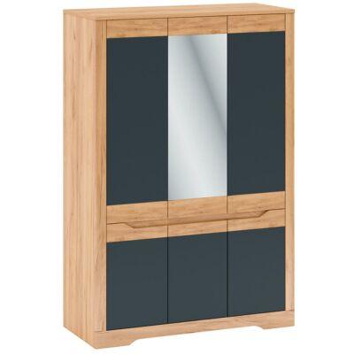 Akasztós szekrény F, tölgy craft arany/grafit szürke, FIDEL