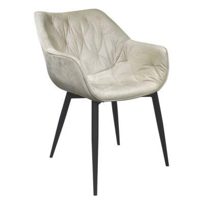 Dizájnos fotel, bézs Velvet anyag, FEDRIS