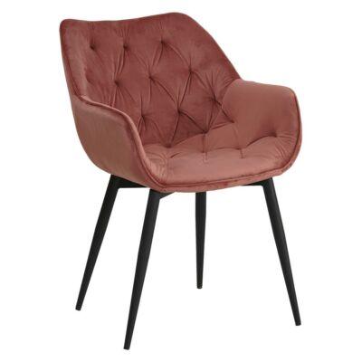 Dizájnos fotel, rózsaszín Velvet anyag, FEDRIS