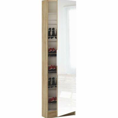 Cipős szekrény tükörrel,sonoma tölgyfa, KAPATER 305397
